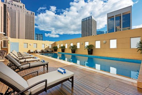 The swimming pool at or near Swissotel Sydney