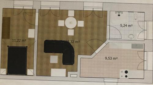 The floor plan of FeWo Augasse Schleiz