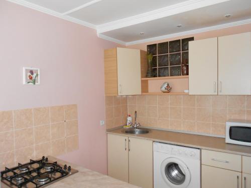 Кухня или мини-кухня в Apartment on Mira 100