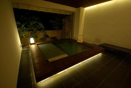 The swimming pool at or near Kawayu Onsen Fujiya
