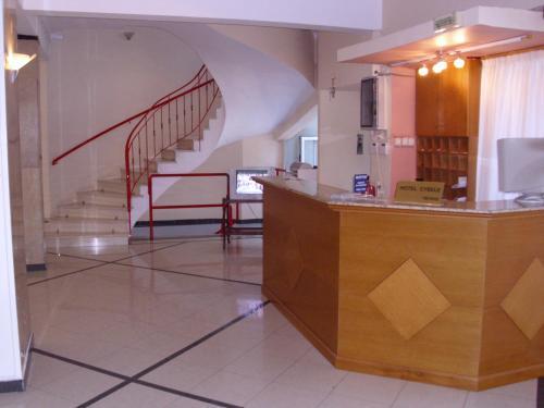 Ο χώρος του λόμπι ή της ρεσεψιόν στο Hotel Cybele Pefki