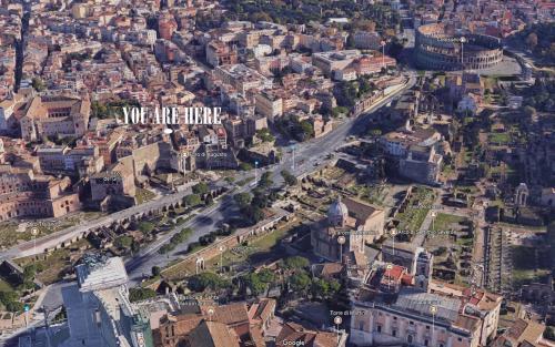 Vue panoramique sur l'établissement Colosseum Forum apartment