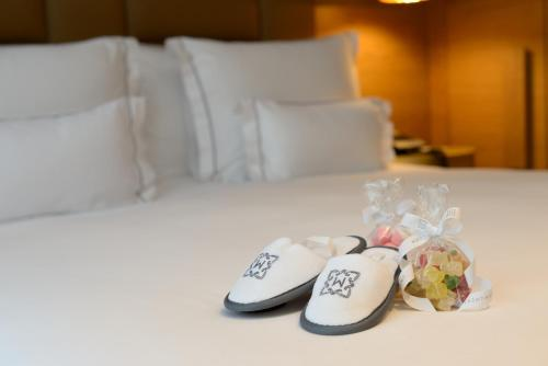 Cama ou camas em um quarto em Monument Hotel