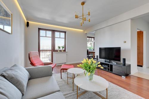 A seating area at Apartament Sopot