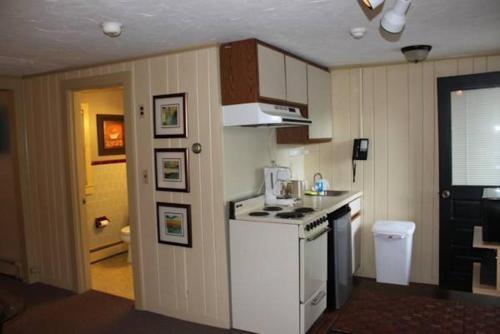 A kitchen or kitchenette at Parker's River Motel