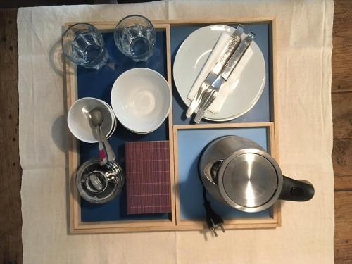 Cuisine ou kitchenette dans l'établissement Chambre d'Hôtes Annelets