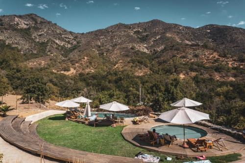 A view of the pool at Biosfera Lodge or nearby