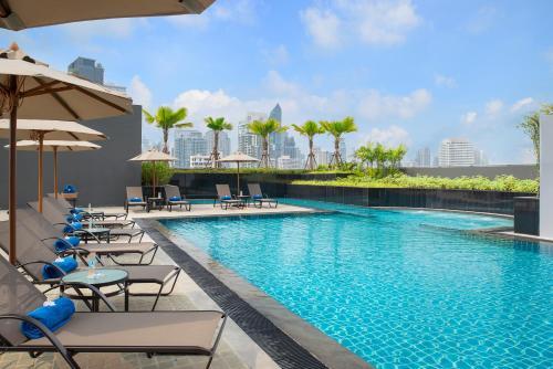 The swimming pool at or near Hotel Nikko Bangkok