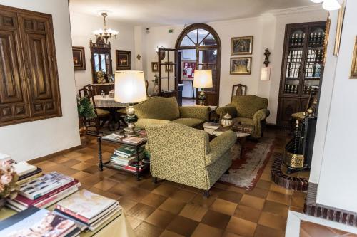 The lobby or reception area at Hotel Soho Boutique Palacio San Gabriel
