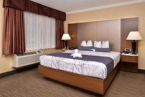 Cama ou camas em um quarto em Best Western Hollywood Plaza Inn - Hollywood Walk of Fame Hotel - LA