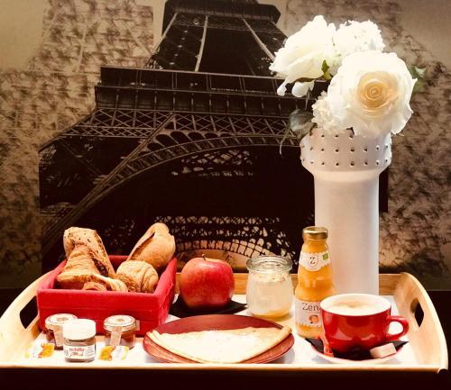 אפשרויות ארוחת הבוקר המוצעות לאורחים ב-Résidence & Spa Le Prince Régent