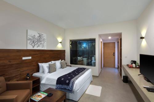 Кровать или кровати в номере Serendivi Resort Villa