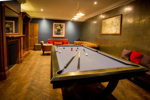 A billiards table at The Wood Norton