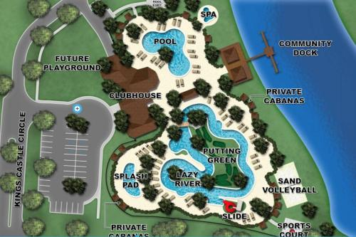 A bird's-eye view of A - New 4 Bedroom Home - 5 Miles to Disney - Free Water Park - Private Pool