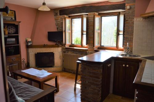 Una cocina o zona de cocina en Aldea de Con