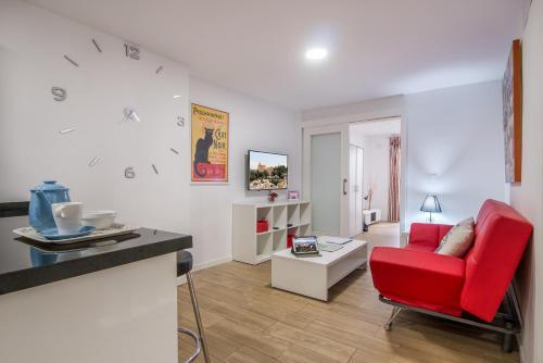 Een zitgedeelte bij Apartamento San Isidro, OZONO