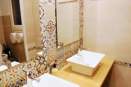 A bathroom at Buba House