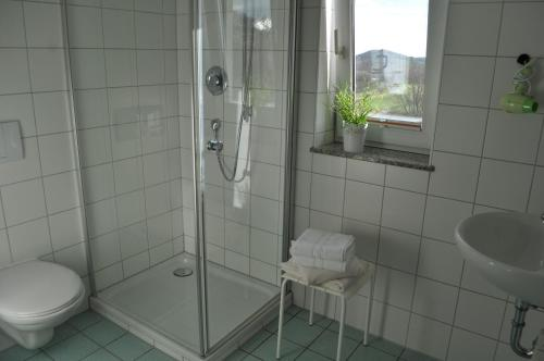 A bathroom at Pension Freudenthal