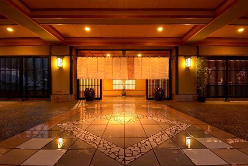 The lobby or reception area at Aburaya Tousen
