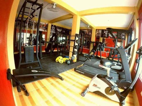 The fitness center and/or fitness facilities at Jelly's Haven Resort