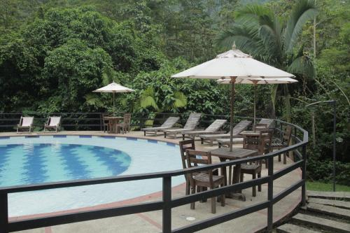 The swimming pool at or near Hotel La Selva Agroecologica