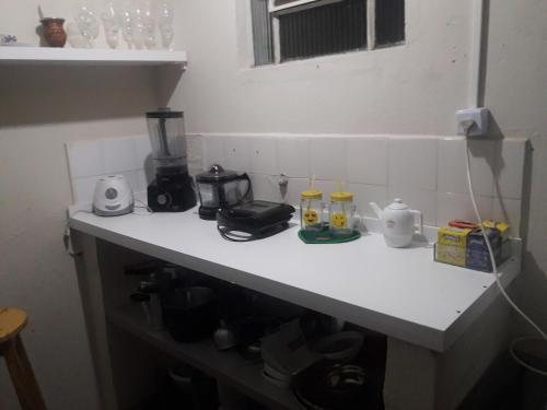 A kitchen or kitchenette at Hostel Cult MR Alagoas