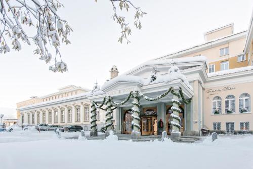 Kulm Hotel St. Moritz during the winter