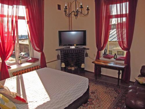 Кровать или кровати в номере Апартаменты на Выборгской