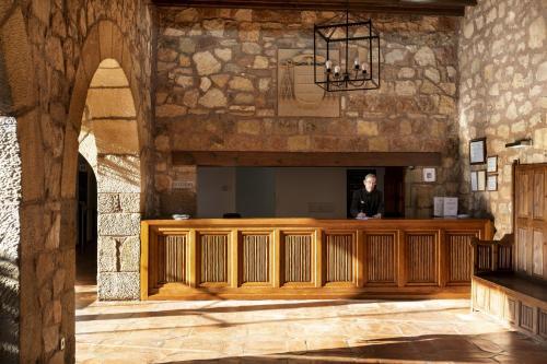 El vestíbulo o zona de recepción de Parador de Siguenza