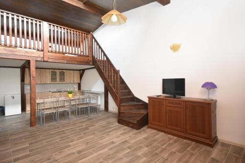TV a/nebo společenská místnost v ubytování Areál Přístav