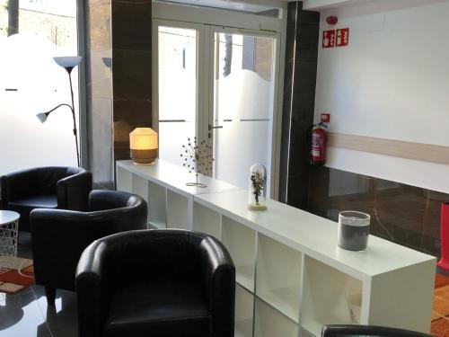 A bathroom at Pensión Miribilla
