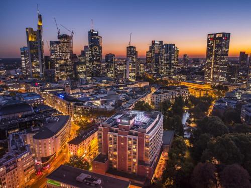 A bird's-eye view of Hilton Frankfurt City Centre