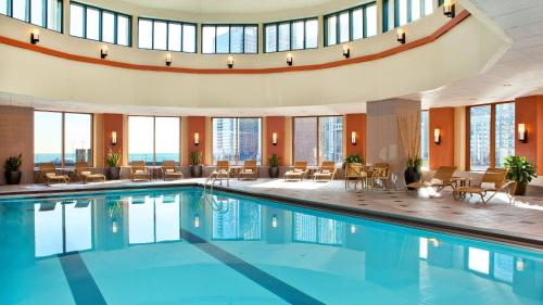 The swimming pool at or near Sheraton Grand Chicago