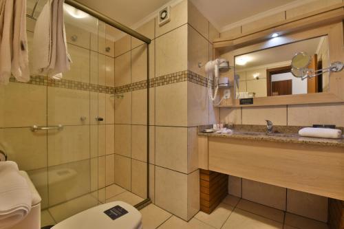 A bathroom at Pousada Belluno