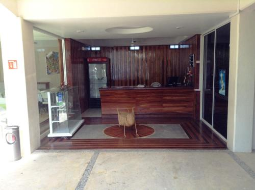 The lobby or reception area at Hotel Chapul Inn