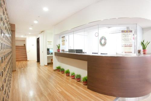 The lobby or reception area at Hanabi Hotel