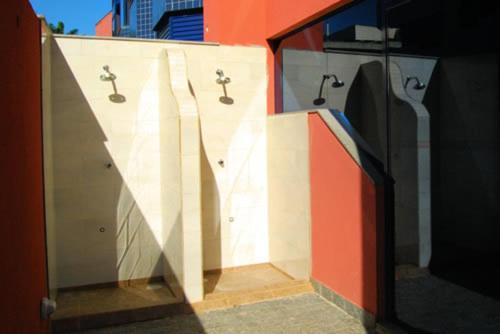 Um banheiro em Hotel Santamaria