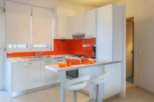 A kitchen or kitchenette at Calliope Corfu Apartments
