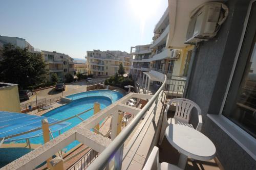 A view of the pool at Menada Sunset Kosharitsa Apartment or nearby