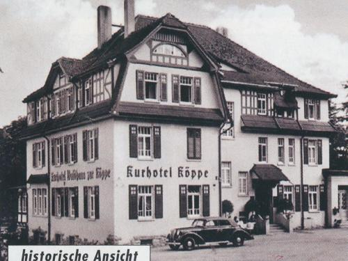 Hotel zur Köppe during the winter