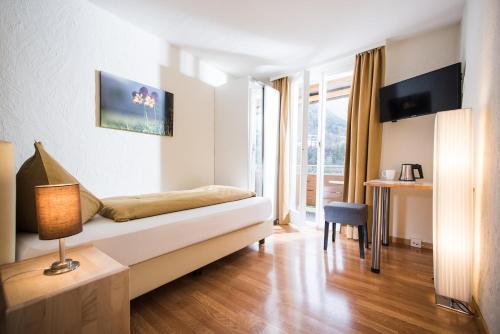 Телевизор и/или развлекательный центр в Jungfrau Hotel