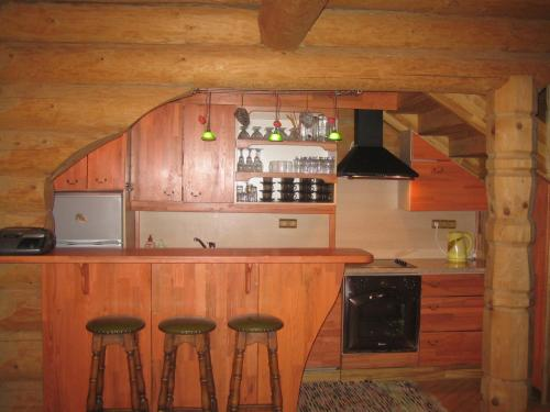 The lounge or bar area at Brīvdienu māja Pie sievasmātes