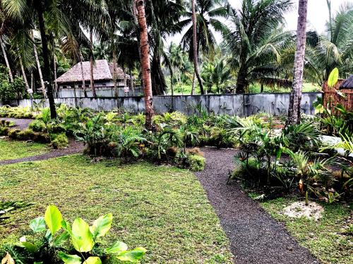 A garden outside The Village Siargao