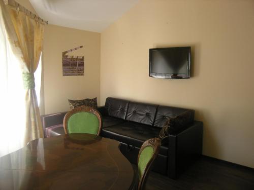 A seating area at Art Villa on Sumskaya Street