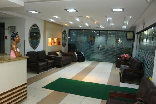 The lobby or reception area at Mar Hotel