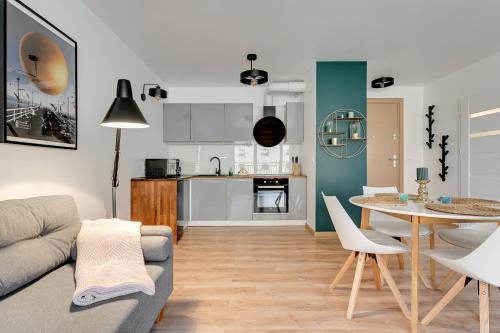 Kuchyň nebo kuchyňský kout v ubytování Comfort Apartments Waterlane Island