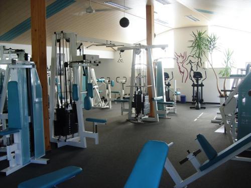 Das Fitnesscenter und/oder die Fitnesseinrichtungen in der Unterkunft Pension Fitnessoase