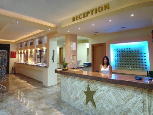 The lobby or reception area at Hotel Tigaki's Star