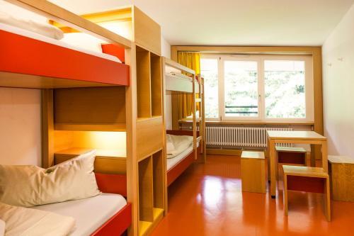 Letto o letti a castello in una camera di HI Munich Park Youth Hostel