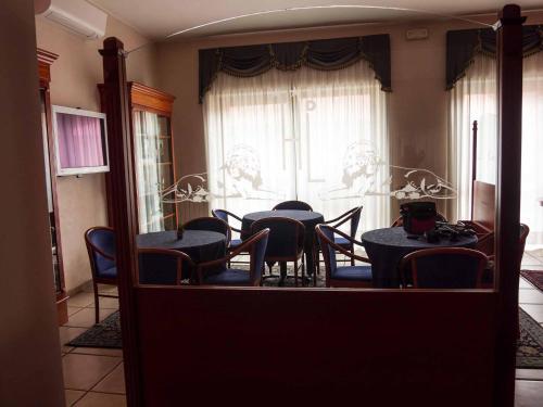 Гостиная зона в Albergo Dei Leoni